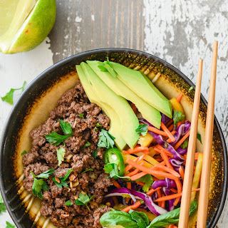 Asian Beef Rainbow Salad