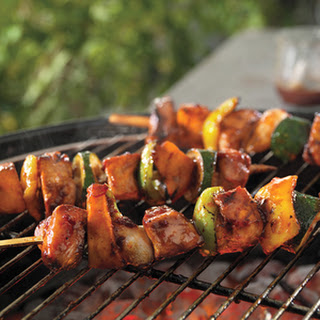 Easy, Breezy Honey-Chipotle Pork Kabobs
