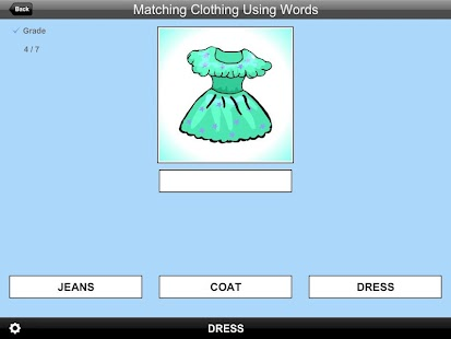 MatchingClothingUsingWordsLite- screenshot thumbnail