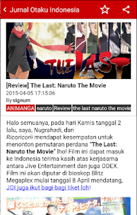 Jurnal Otaku Indonesia- screenshot thumbnail