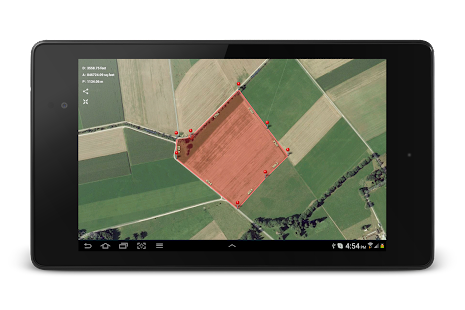Planimeter - GPS area measure | land survey on map Screenshot