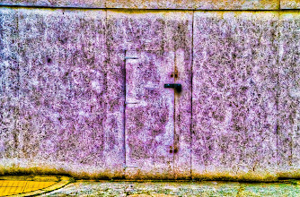 Photo: What does this door lead to? I love the texture of the walls... how intricate?!