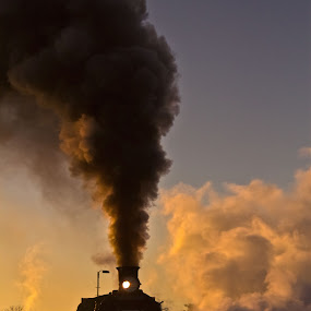 Steam train 4 by Trippie Visser - Transportation Trains ( sky, locomotive, train, smoke, steam )
