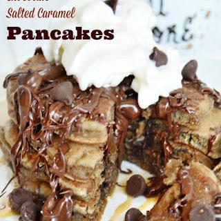 Chocolate Salted Caramel Pancakes
