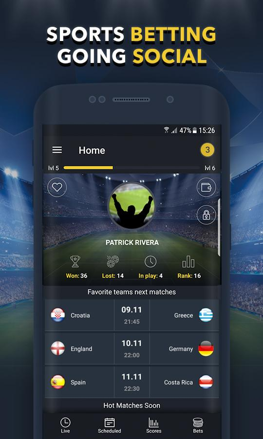 BETUP - Sports Betting Game & Live Scores Android 1