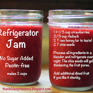Strawberry-Rhubarb Refrigerator Jam.