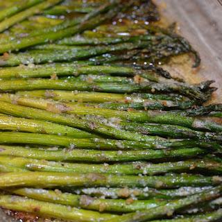 Garlic and Parmesan Roasted Asparagus.