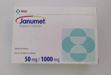 Janumet 50/1000Mg   Tabletas Caja x28Tab. MSD Sitagliptina Metformina