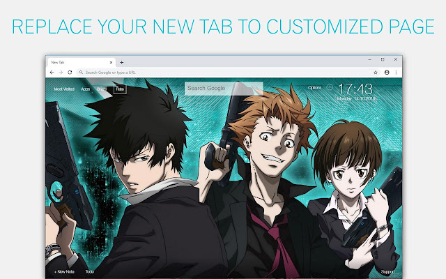 Psycho Pass Wallpaper HD Custom New Tab