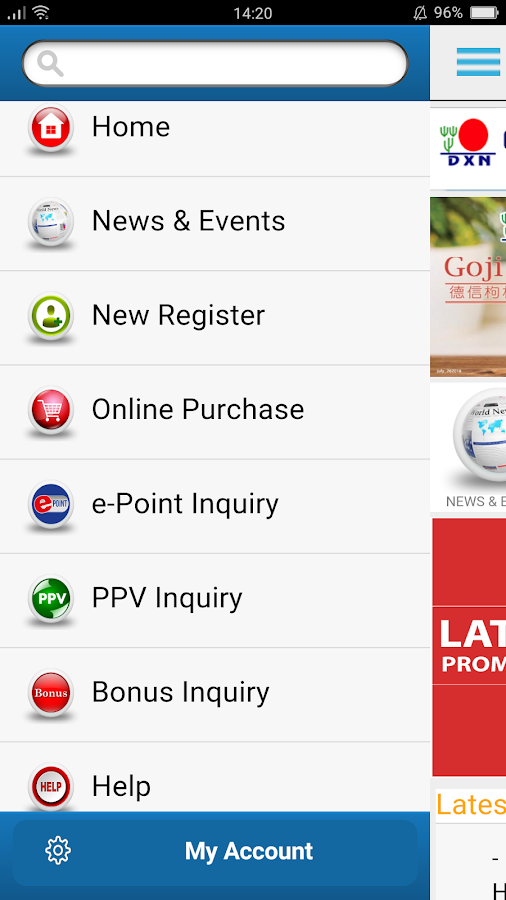 DXN APP- screenshot