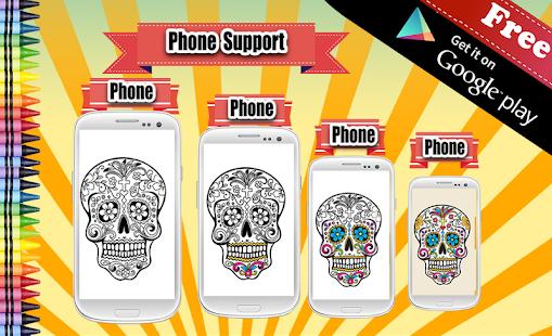 Adult Coloring Sugar Skull screenshot