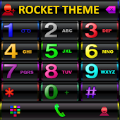 Theme RocketDial Black Colors