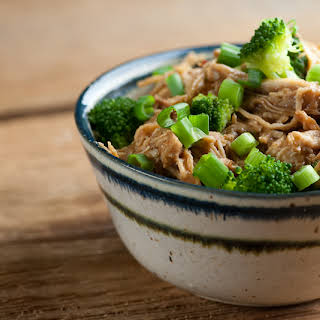 Slow Cooker Bourbon Chicken and Broccoli.