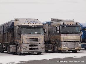 Photo: CASINTRA Grupo: IVECO Stralis + DAF XF 105*510 aus Spanien.   ---> www.truck-pics.eu