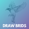 How to draw birds step by step easily icon