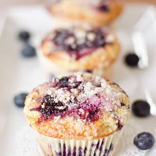 Best Lemon Topped Blueberry Muffins