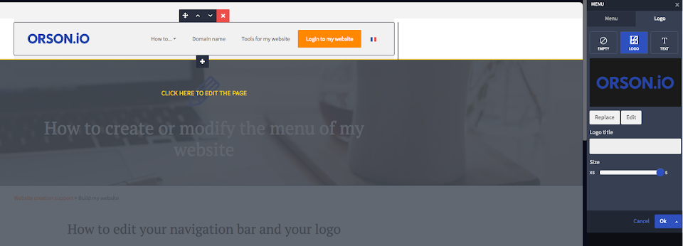 how to add a logo on my site