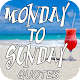 Monday to Sunday Quotes Download for PC Windows 10/8/7