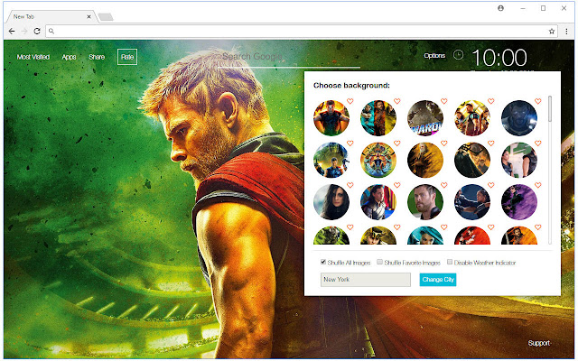 Thor Ragnarok HD Wallpaper Marvel New Tab