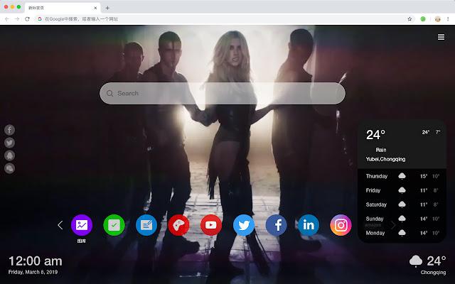 Ke$ha Hot Stars New Tabs HD Wallpapers Themes