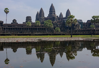 Photo: Returning from the profane to the sacred (and from the Nexus 5 to the Sony NEX-7), these are the ruins of Angkor Wat. Built in the early 12th century as the centerpiece of the Khmer empire, it is the largest religious building in the world.