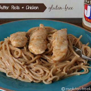 Peanut Butter Pasta and Chicken {Gluten-free}.