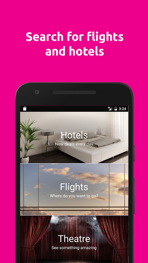 lastminute.com hotel & flights- screenshot