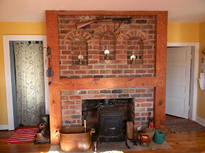 Photo: Fireplace in Kitchen