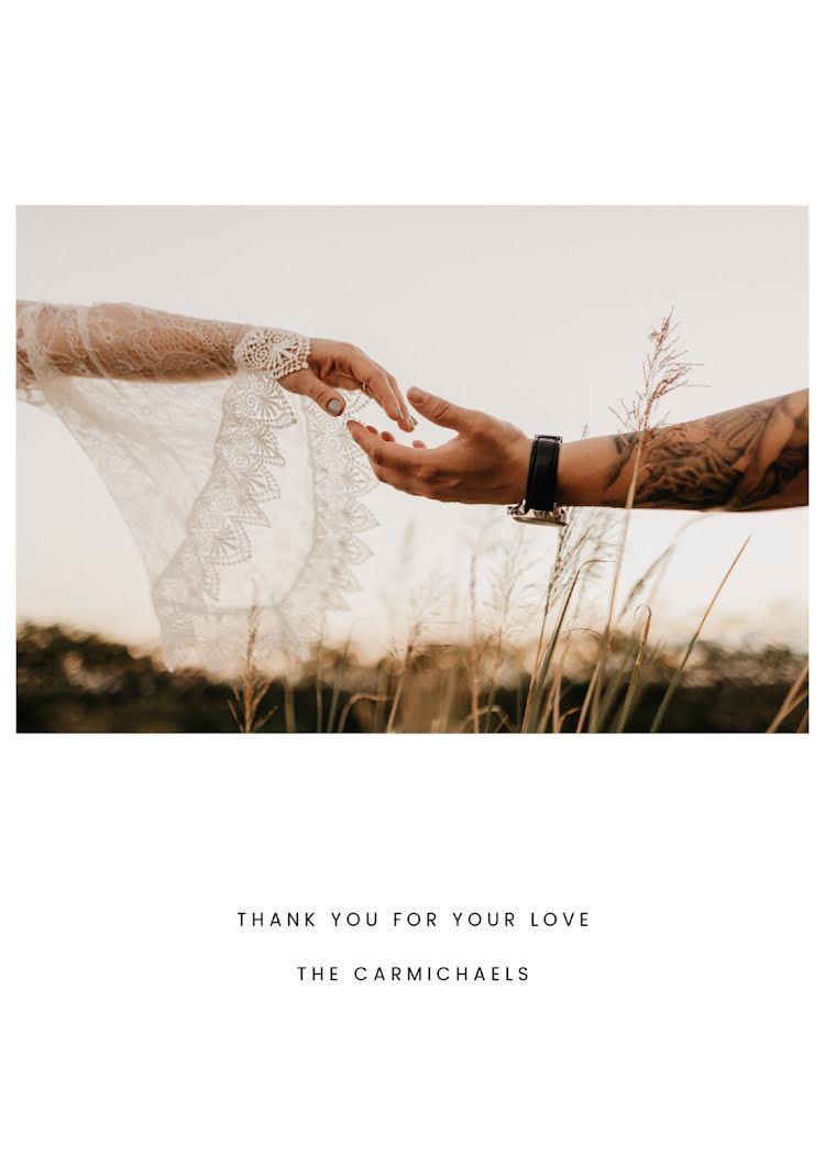 Thank You for Your Love - Christmas Card Template