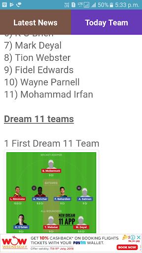 Best Dream 11 Teams 4.4.4.4 screenshots 6