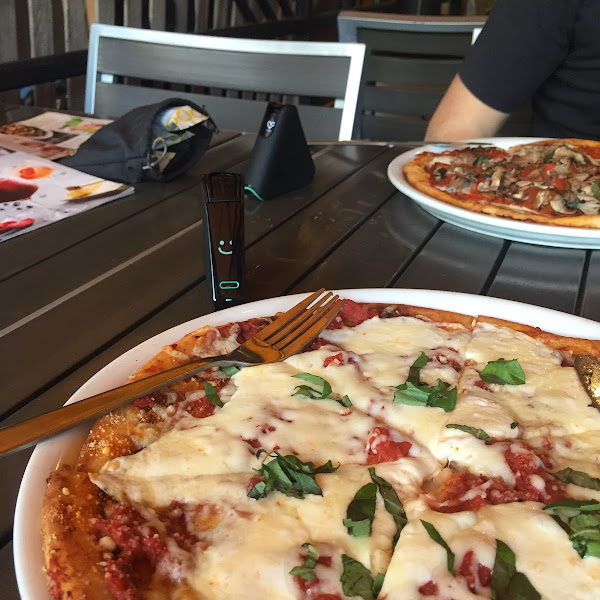 Margarita Pizza tested gluten free with our Nima.