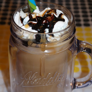 Chocolate Caramel Brew Over Ice Coffee