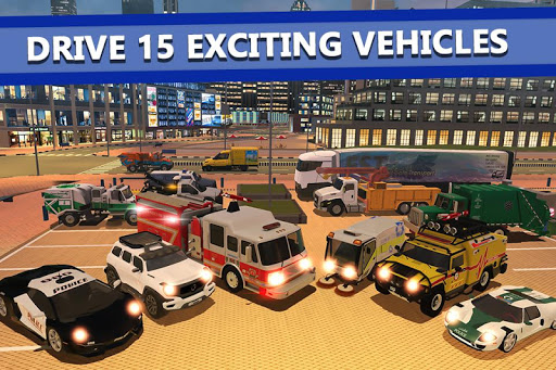 Emergency Driver Sim: City Hero apktreat screenshots 2