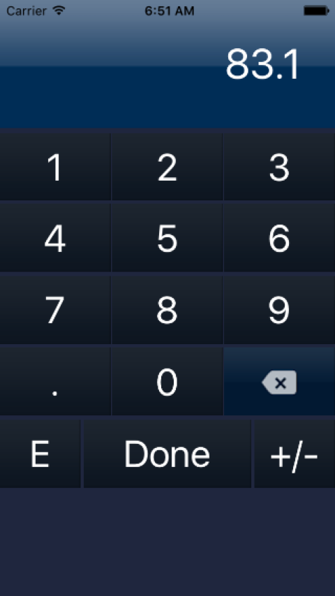 Basic Electronic Calculator- screenshot