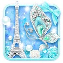 Turquoise Diamond Butterfly Live Wallpaper icon