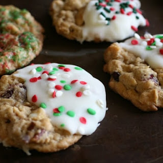 Cranberry Oatmeal White Chocolate Cookies.