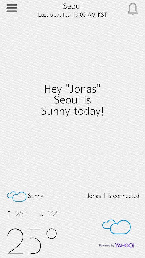 OPUS ONE SMART UMBRELLA JONAS- screenshot