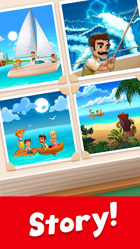 Tropic Trouble Match 3 Builder apkpoly screenshots 6