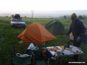 Photo: Breakfast time in late June in Siberia...time to wear alll your clothes