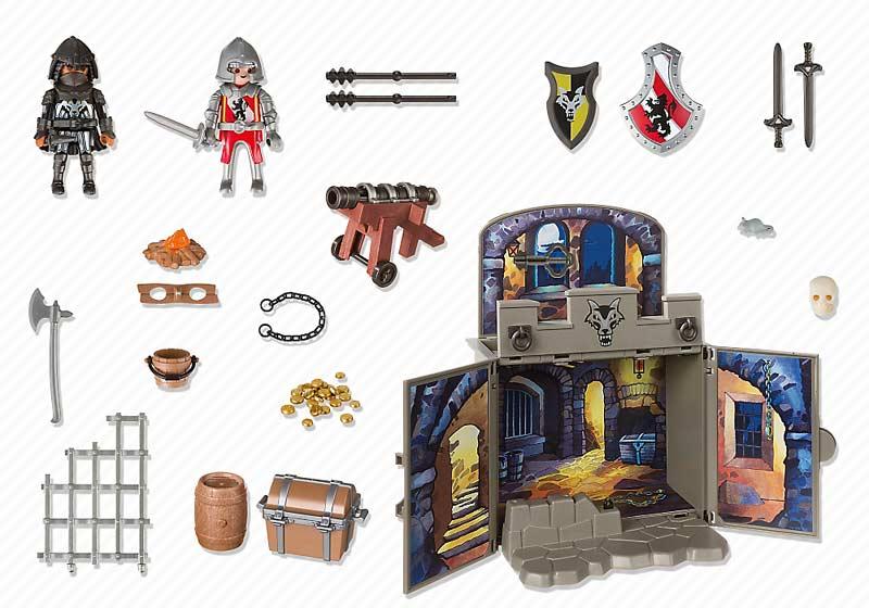 Contenido real de Playmobil® 6156 Cofre Caballeros del Tesoro