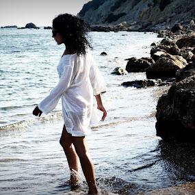 Christina by Daniela Elena - People Street & Candids ( girl, brunette, seaside magic )