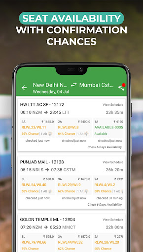 IRCTC train Booking - ConfirmTkt (Confirm Ticket) Apk 2