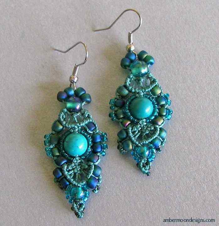 Earring Design Ideas sapphire vintage glass pear jewel earrings with chains and green garnets Earring Design Ideas Screenshot