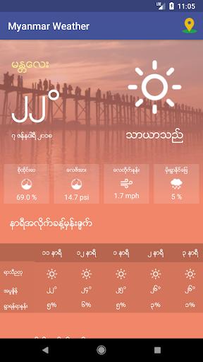 Myanmar Weather App 1.0 screenshots 5