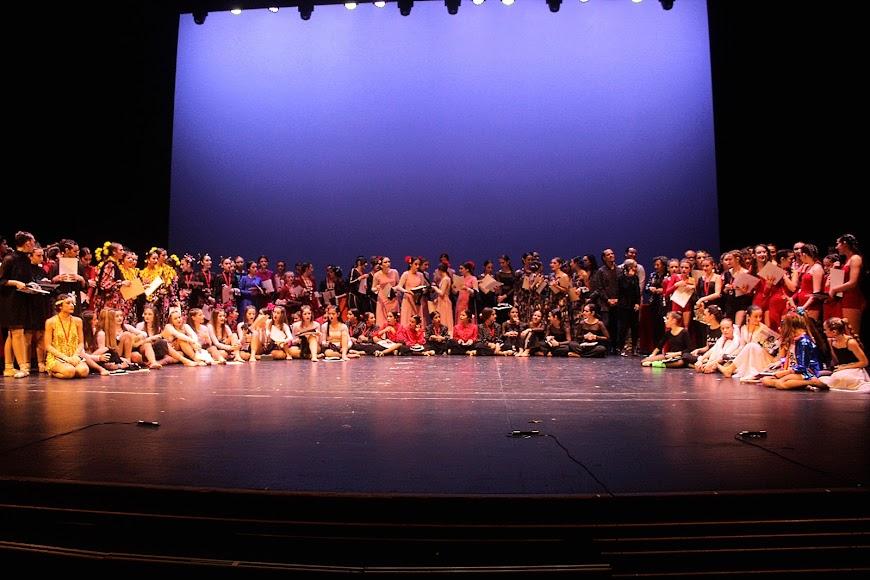 Participantes en el Concurso Coreográfico del Conservatorio de Danza \'Kina Jiménez\'.