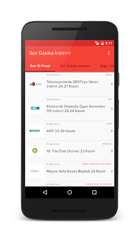 android Son Dakika İndirimi Screenshot 2