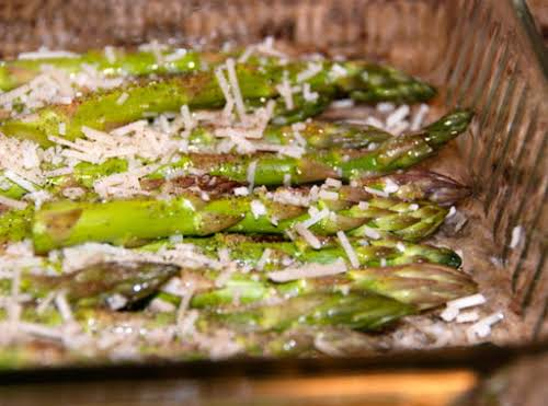 "Parmesan Roasted Asparagus ""I made your AMAZING recipe tonight for my mom..."