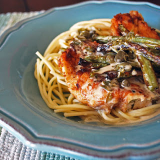 Chicken Picatta with Roasted Green Beans