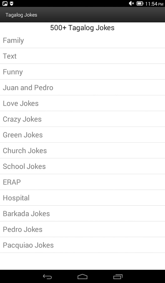 Tagalog Jokes- screenshot