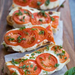 Tomato Basil Mozzarella Toasts.